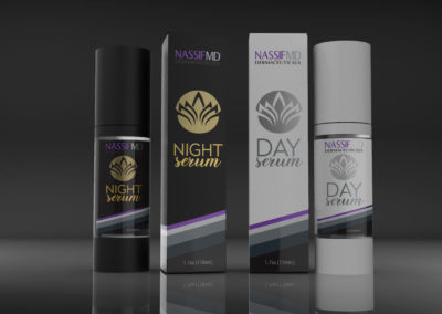 Dr Nassif MD Day/Night Serum Design and Render